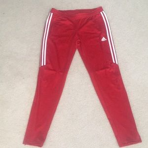 Red Adidas Track pants